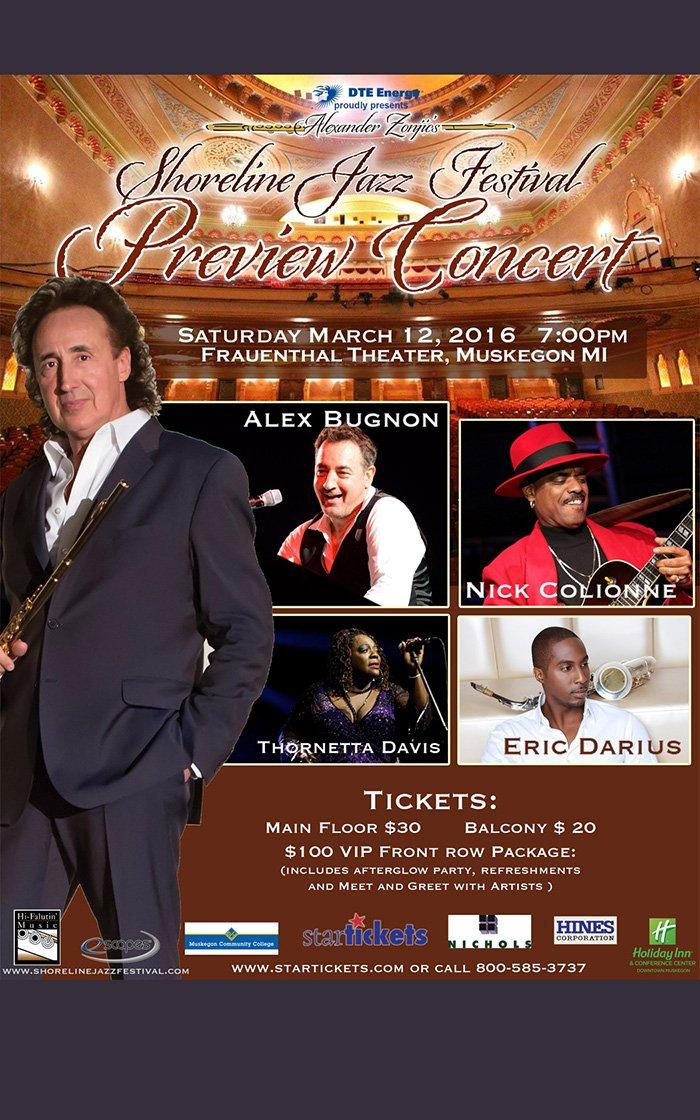 Mar 12 – Shoreline Jazz Festival Preview Concert