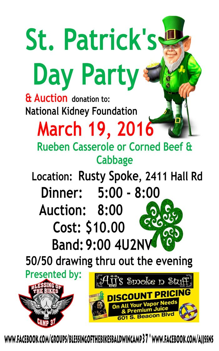 Mar 19 – Rusty Spoke – St. Patrick's Day Party