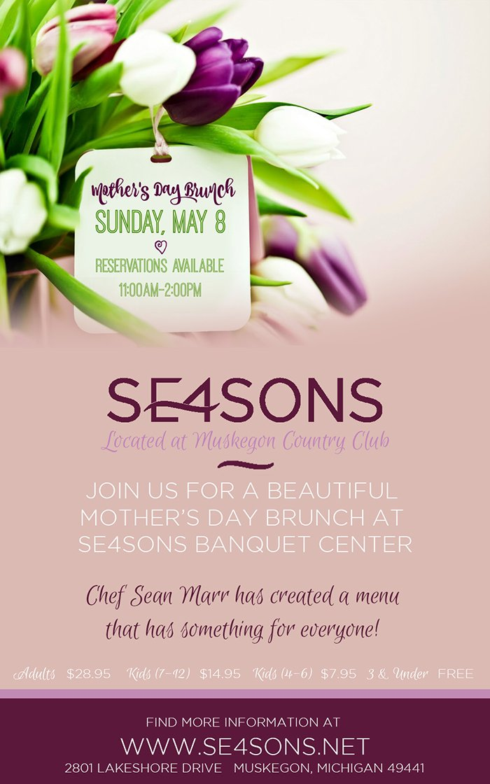 May 8 – Mother's Day Brunch at SE4SONS Banquet Center