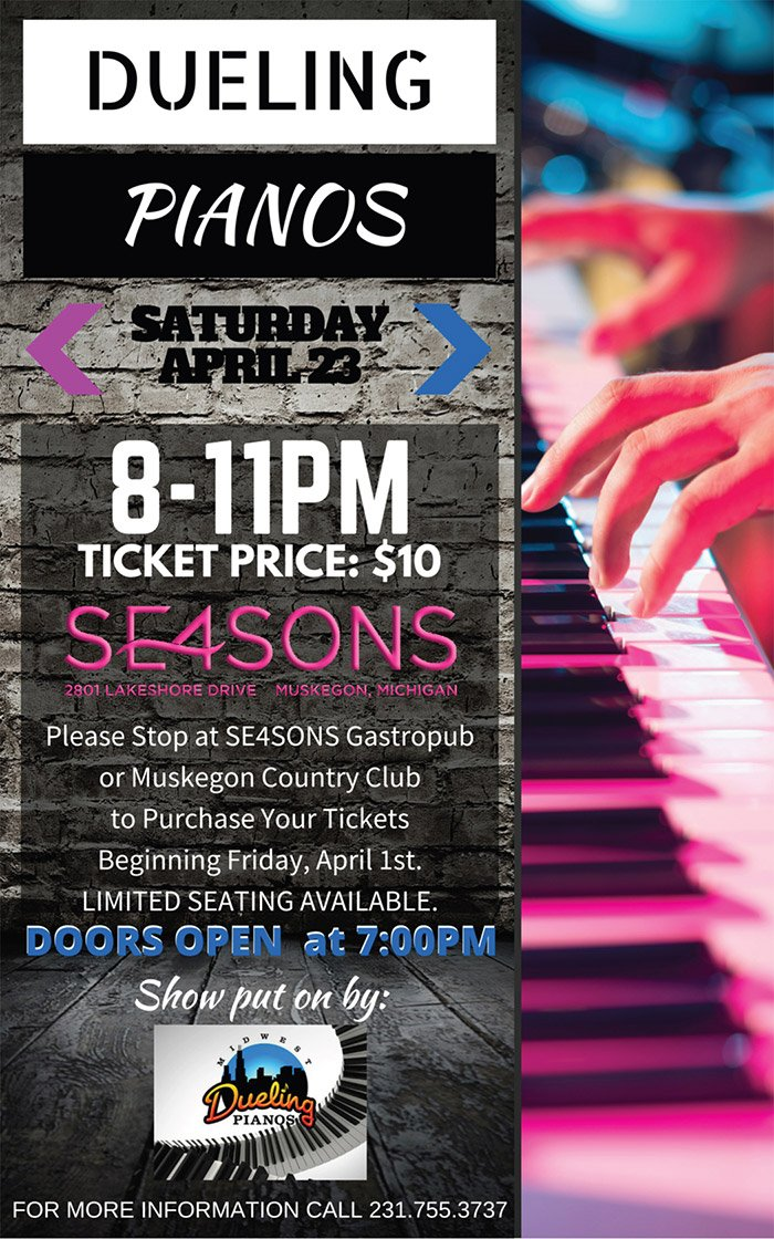 Apr 23 – DUELING PIANOS at SE4SONS
