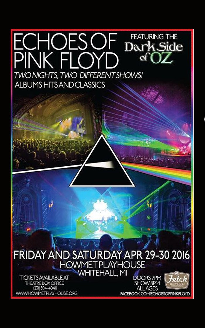 Apr 29-30 – Echoes of Pink Floyd at the Howmet Playhouse