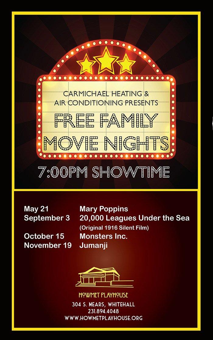 May 21 – Free Movie Nights at the Howmet Playhouse