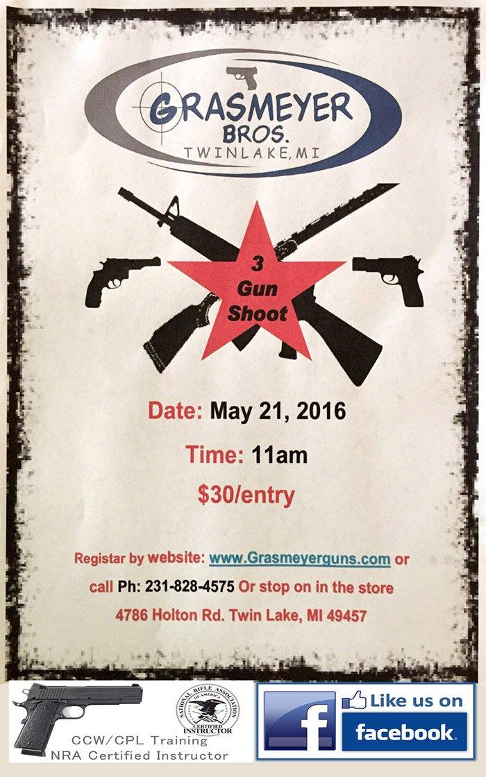 May 21 – 3 Gun Shoot