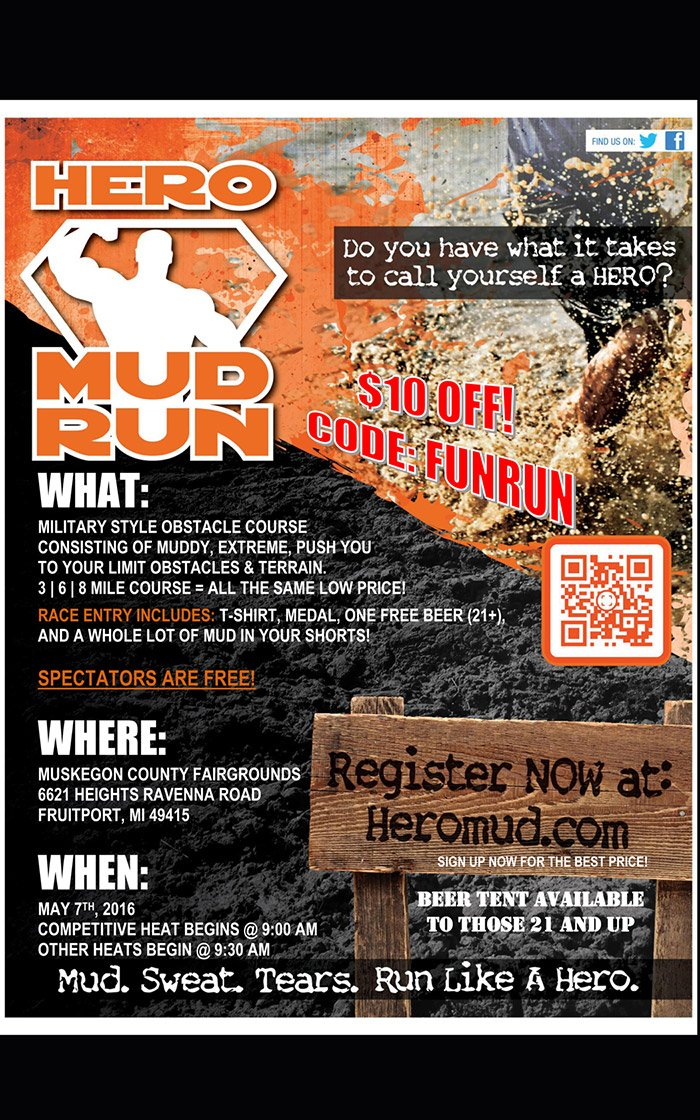 May 7 – Hero Mud Run