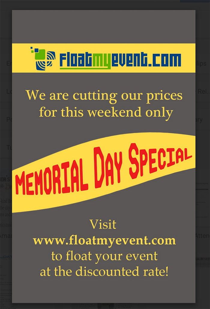 Memorial Day Advertising Special