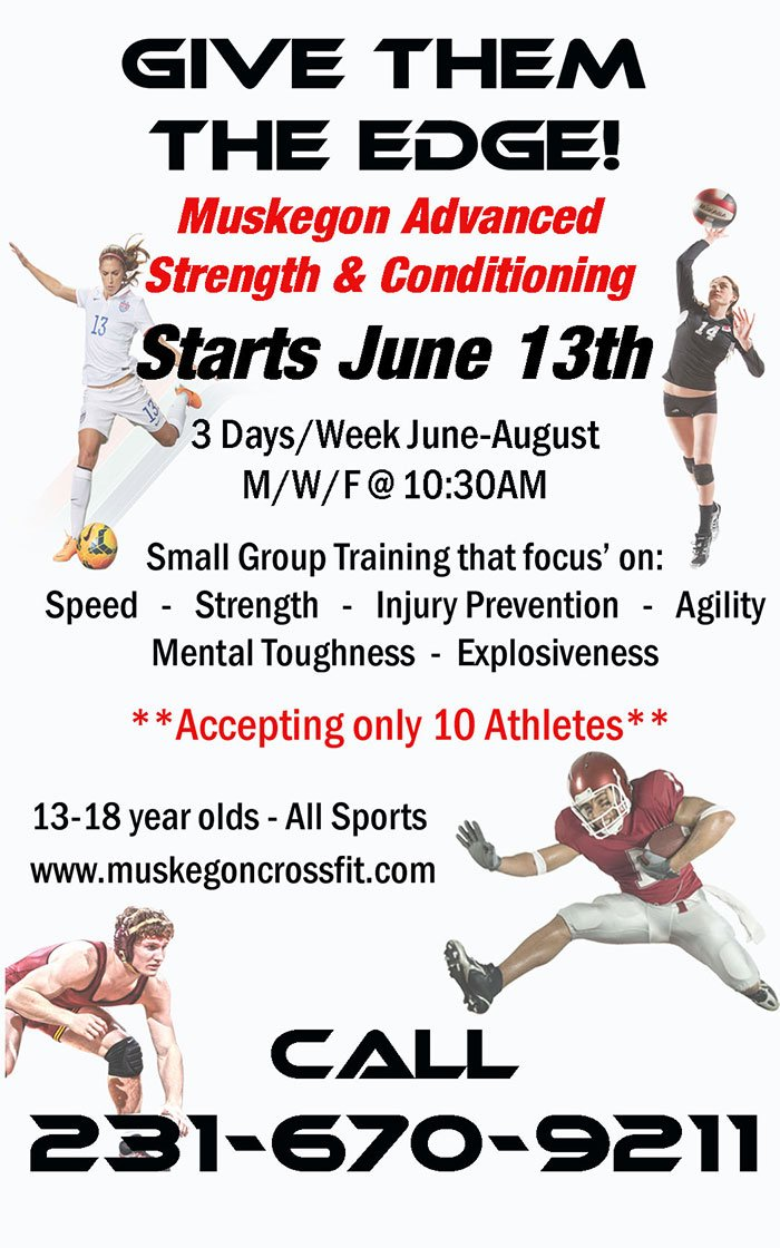 Starting June 13 – MASC Summer Program – Muskegon CrossFit