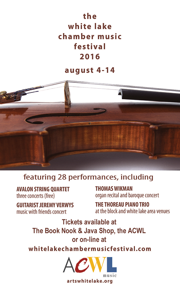 Aug 4-14 – White Lake Chamber Music Festival 2016