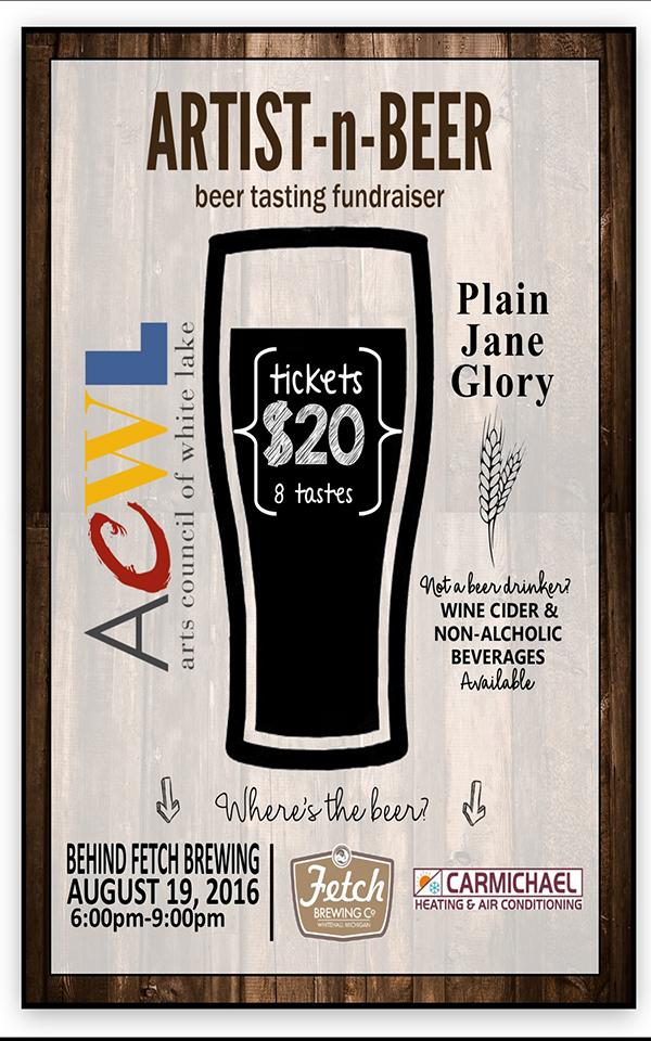 Aug 19 – ARTIST-n-BEER – Beer Tasting Fundraiser
