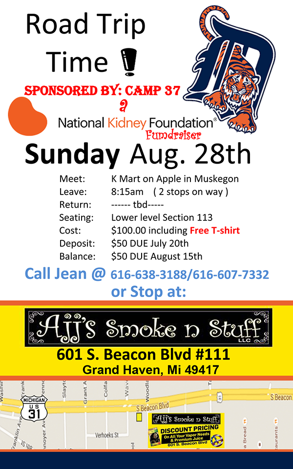 Aug 28 – Road Trip Tigers – Fundraiser