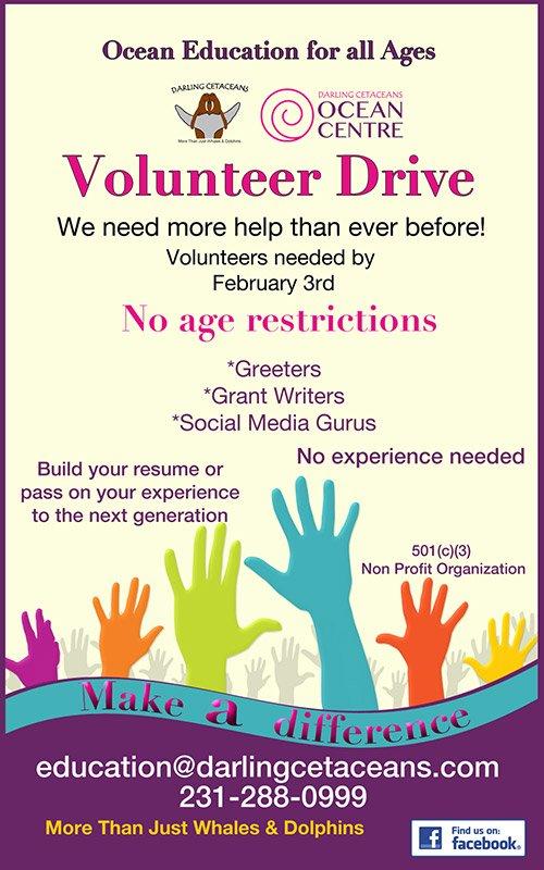 Feb 3 – Darling Cetaceans: Volunteer Drive