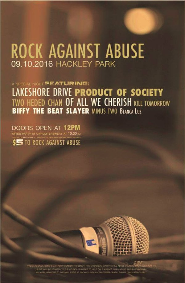 Sep 10 – Rock Against Abuse 2016