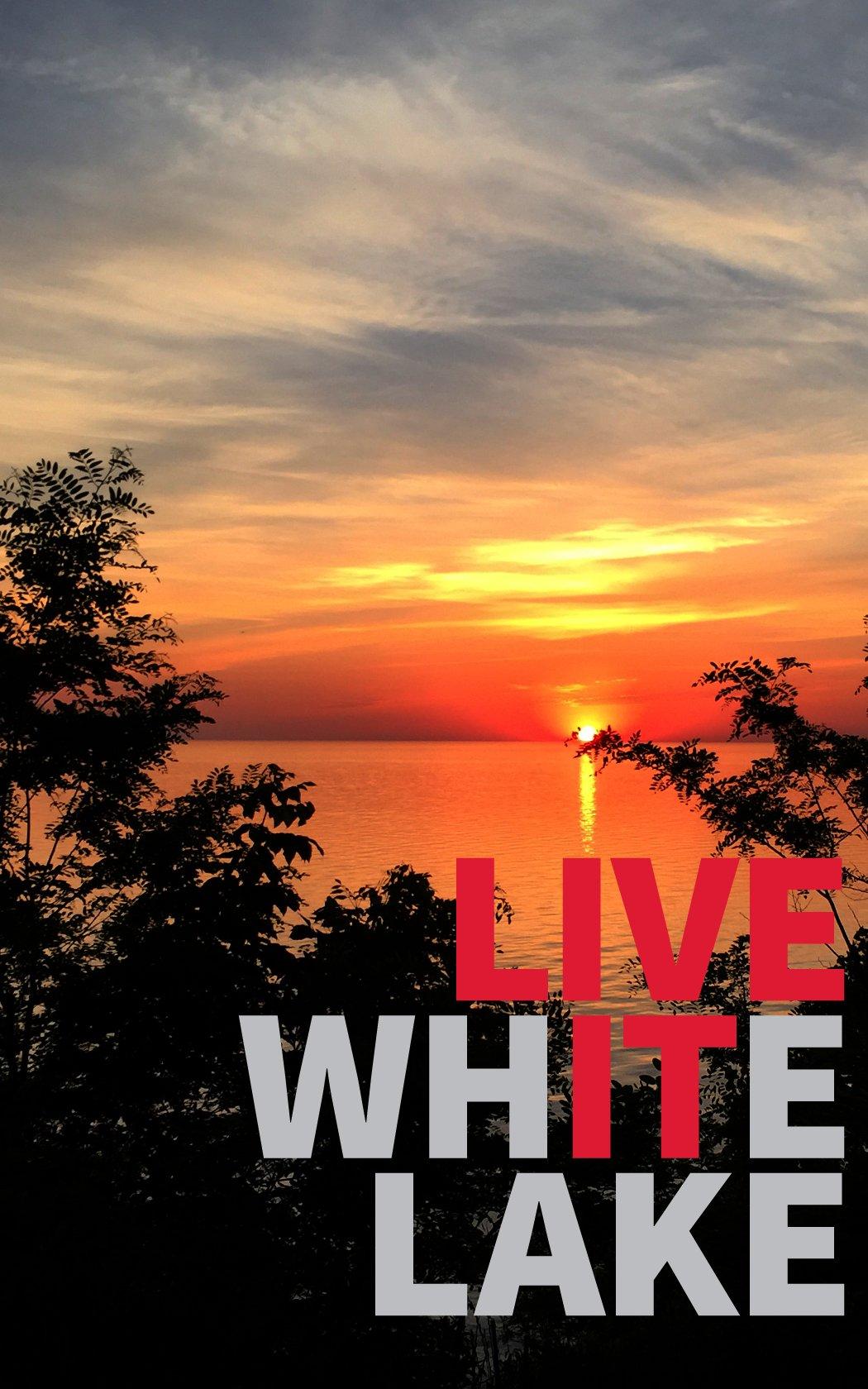 Sunset on White Lake