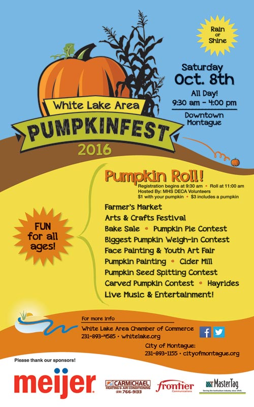Oct 8 – White Lake Area Pumpkinfest 2016