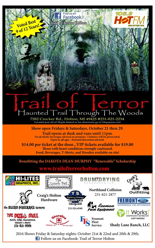 Oct 21-29 –  Trail of Terror – Holton, MI