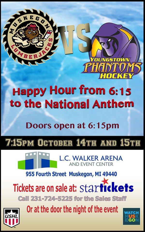 Oct 14,15 – Happy Hour before the Lumberjacks Game