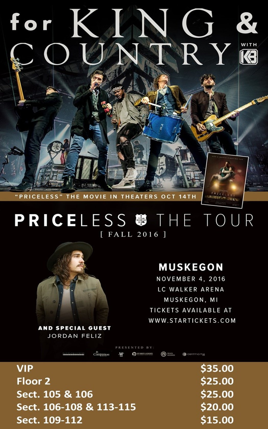 Nov 4 – For King & Country – L.C. Walker Arena & Event Center