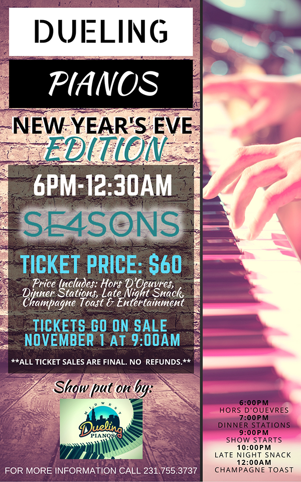Dec 31 – Dueling Pianos New Year's Eve – SE4SONS Gastropub