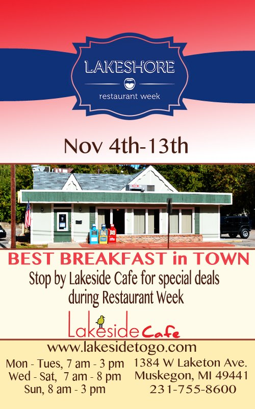Nov 4-13 – Restaurant Week – Lakeside Cafe