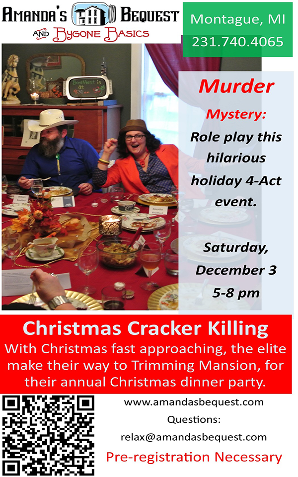 Dec 3 – Murdery Mystery – A Christmas Cracker Killing