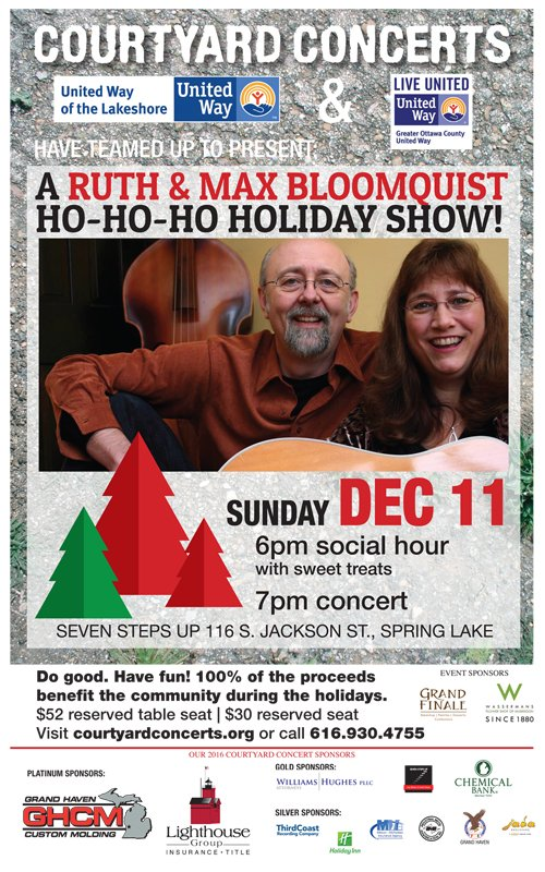 Dec 11 – Courtyard Concerts – Ruth & Max Bloomquist Holiday Show