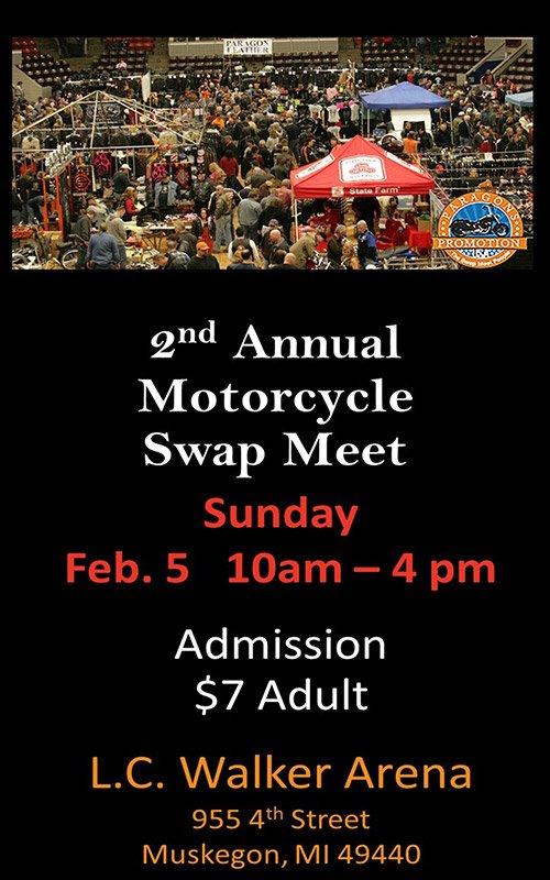 Feb 5 – 2nd Annual Motorcycle Swap Meet