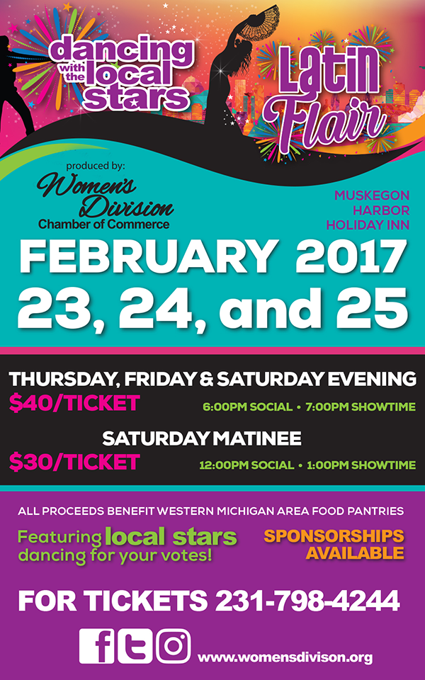 Feb 23, 24 & 25 – Dancing with the Local Stars