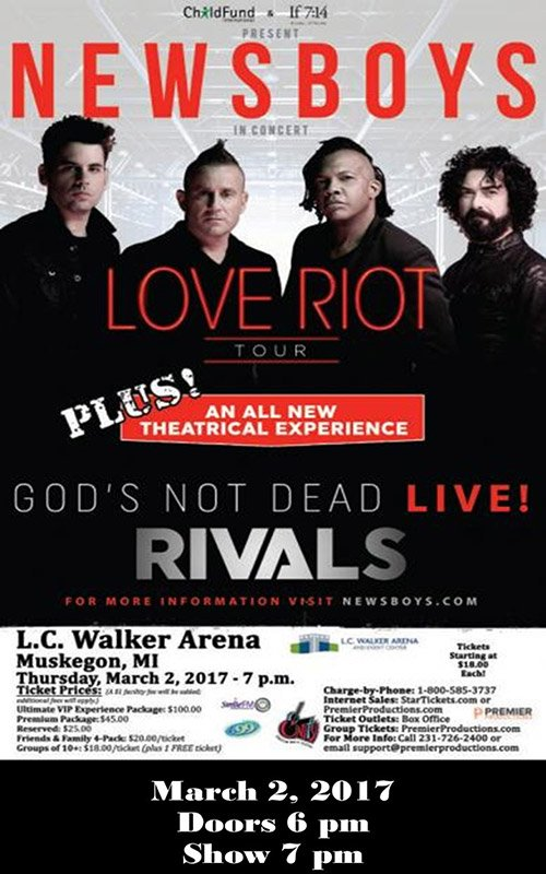 Mar 2 – Newsboys – Love Riot