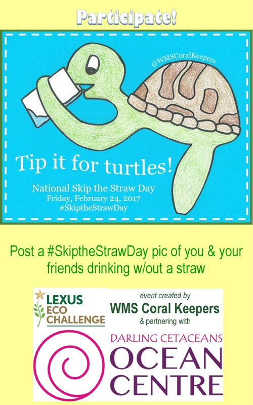 Feb 24 – Darling Cetaceans: Skip the Straw Day