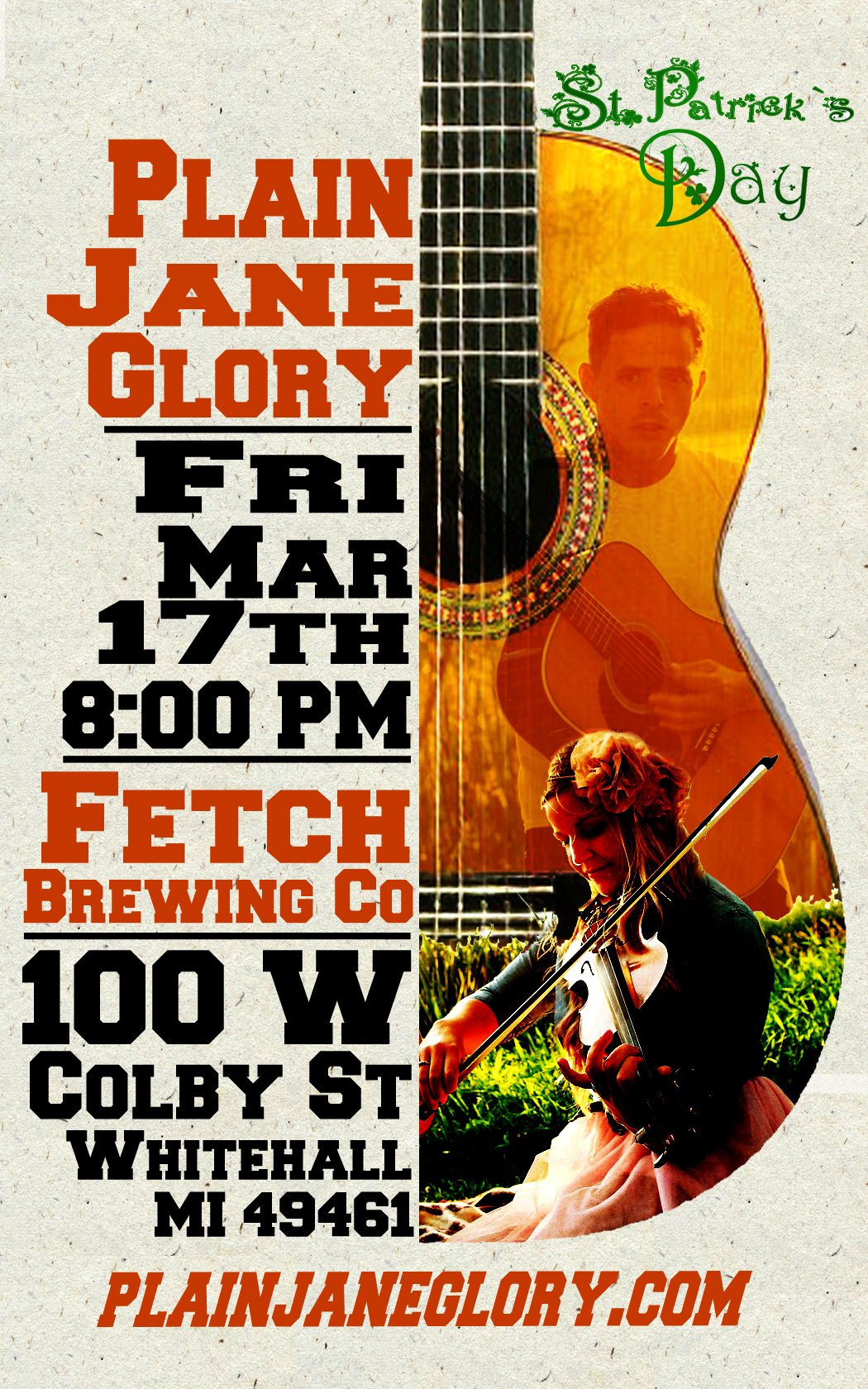 Mar 17 – Plain Jane Glory – Fetch Brewery Co.