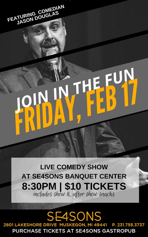 Feb 17 – Live Comedy at SE4SONS Banquet Center