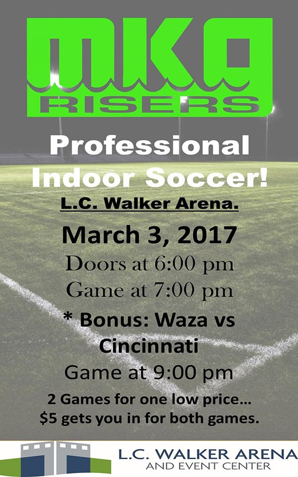 Mar 3 – Muskegon Risers Game – Indoor Soccer
