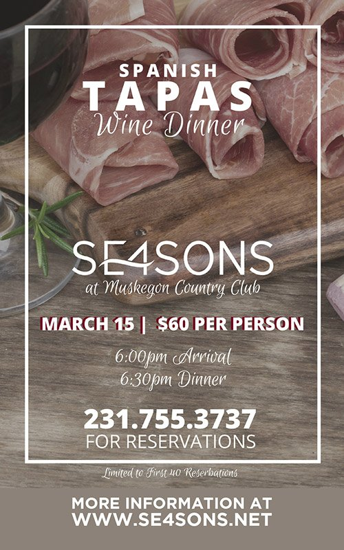 Mar 15 – SE4SONS – Spanish Tapas Wine Dinner