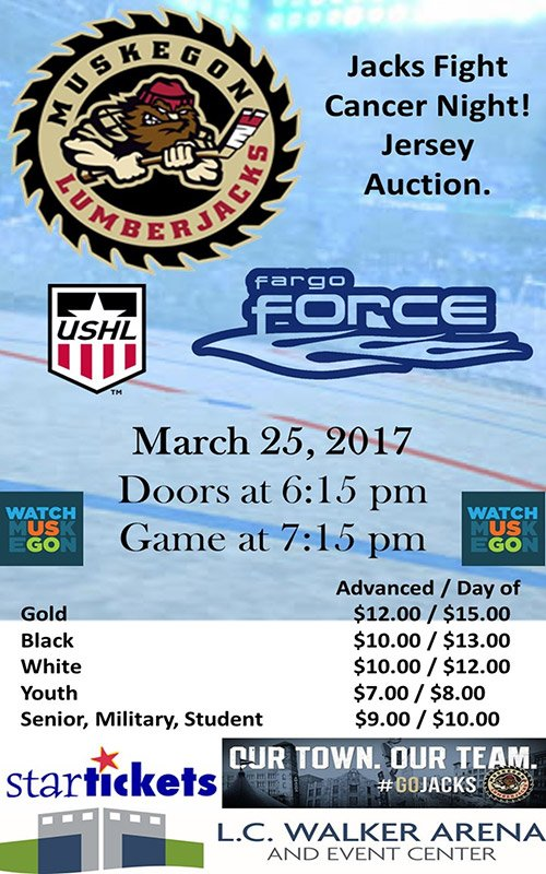 Mar 25 – Muskegon Lumberjacks vs Fargo Force