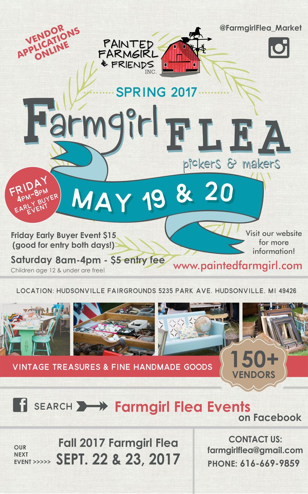May 19, 20 – Spring 2017 Farmgirl Flea