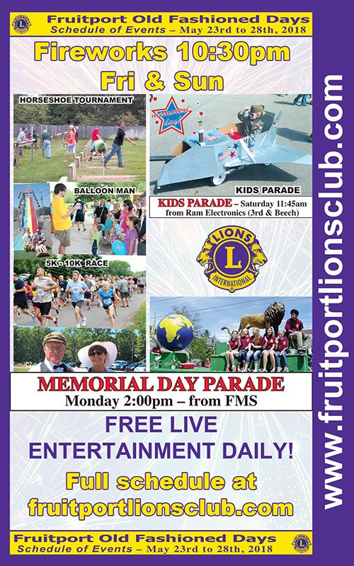 May 23-28 – Fruitport Old Fashioned Days