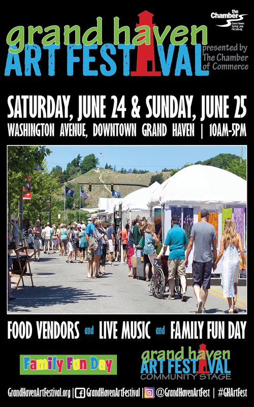 June 24-25 – Grand Haven Art Festival