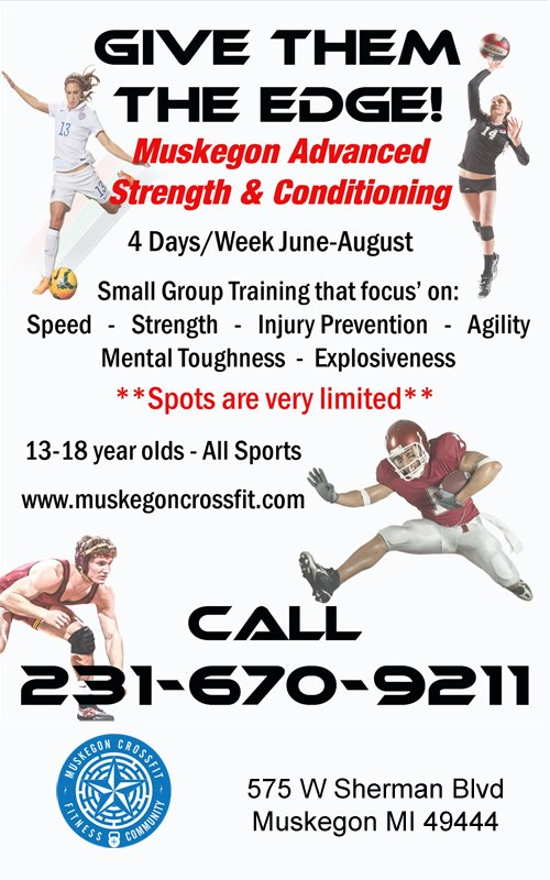 Starting June 12 – Muskegon Advanced Strength & Conditioning – Muskegon CrossFit