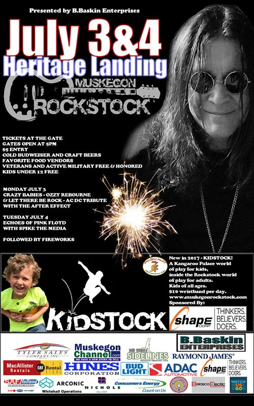 July 3-4 – Muskegon Rockstock