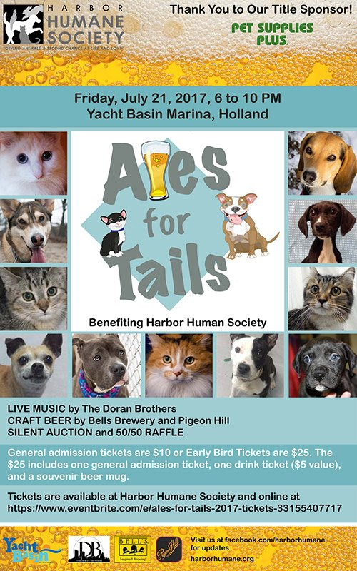 July 21 – Ales for Tails – Yacht Basin Marina