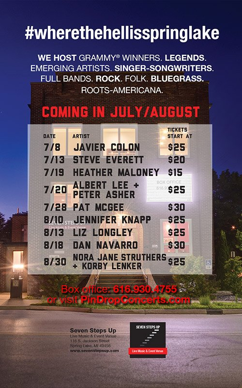 July-Aug, Seven Steps Up – Concert Schedule