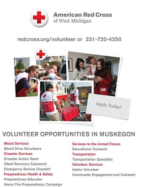 August, 2017- Red Cross Volunteer Opportunities