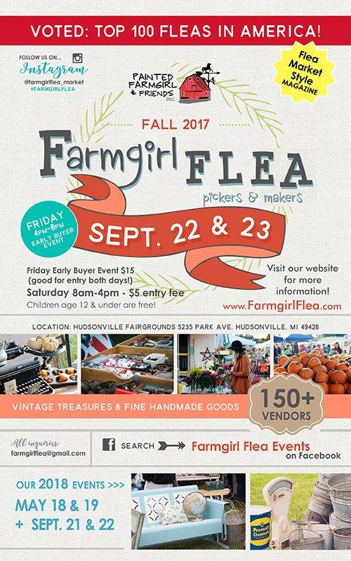 Sep 22, 23 – Fall 2017 Farmgirl Flea Market