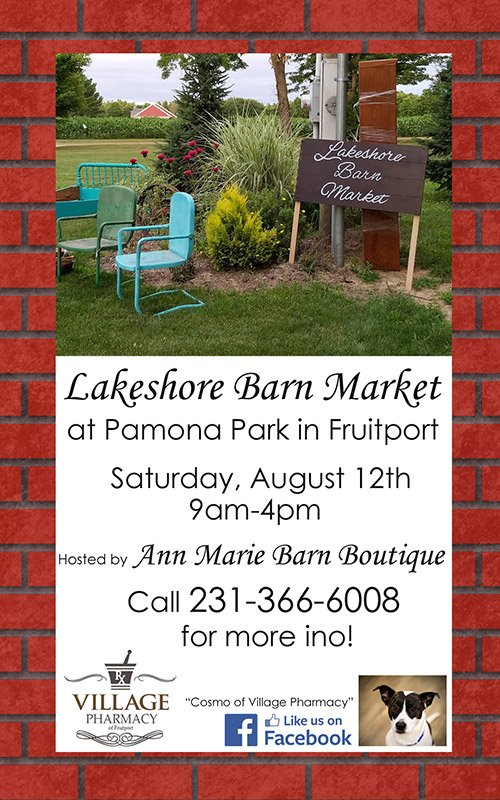 Aug 12 – Lakeshore Barn Market – Pamona Park in Fruitport