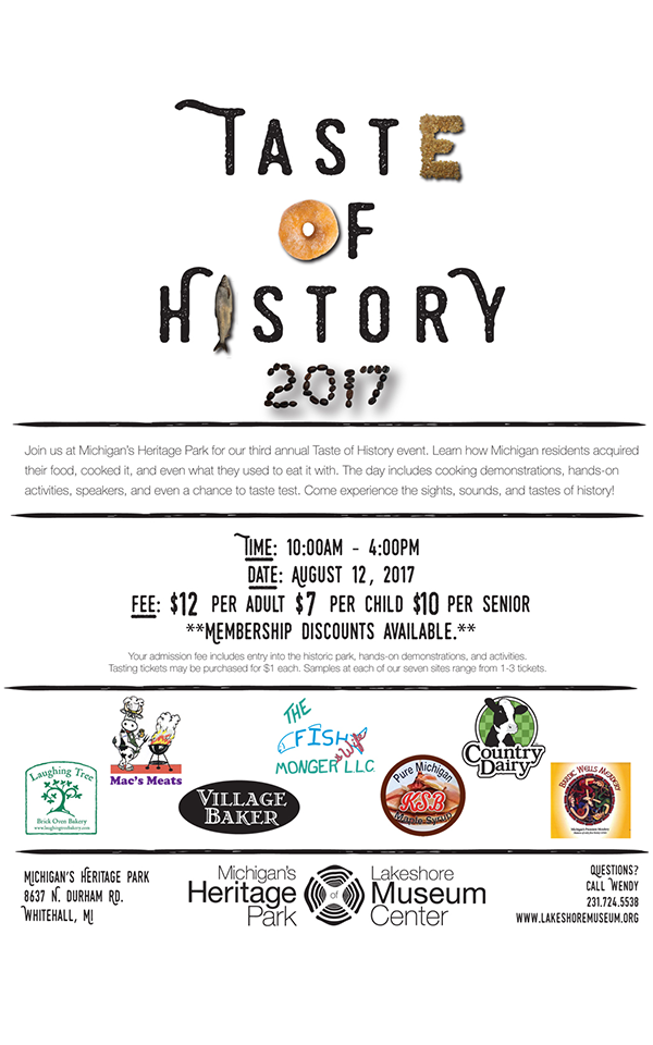 Aug 12 – Taste of History 2017 – Michigan's Heritage Park