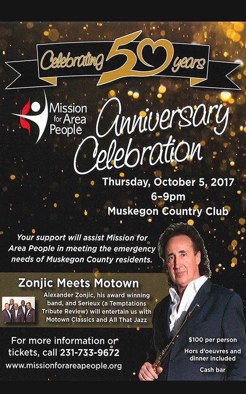 Oct 5 – Mission for Area People 50th Anniversary Celebration