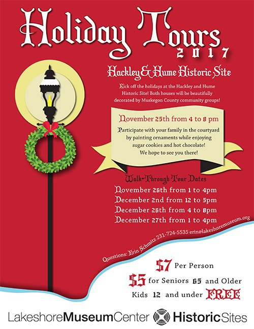 Nov-Dec – Holiday Tours – Hackley & Hume Historic Site