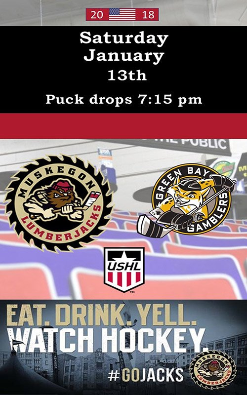 Jan 13 – Muskegon Lumberjacks vs Green Bay Gamblers