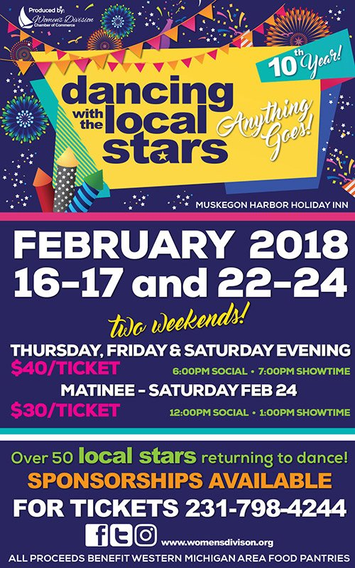 Feb 16-17, 22-24- Dancing with the Local Stars