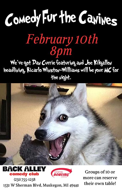 Feb 10 – Comedy Fur the Canines
