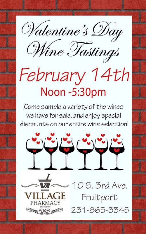 Feb 14 – Valentine's Day Wine Tasting